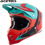 Мотошлем Acerbis Profile 4, Зелено-красный