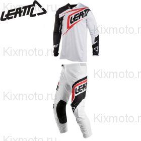 Форма Leatt GPX 4.5 X-Flow, Бело-черная